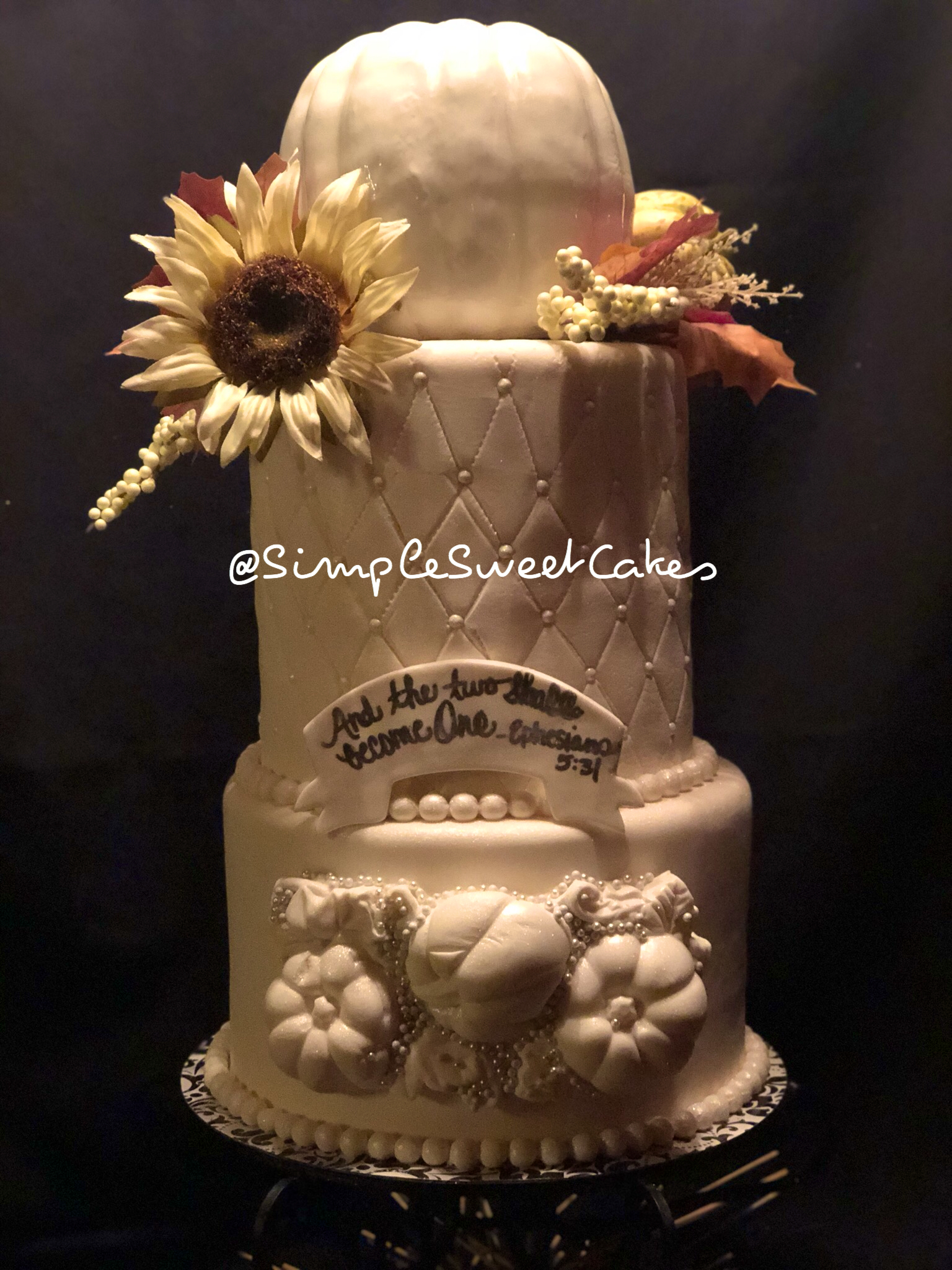 Pumpkin Butter Rum Wedding Cake