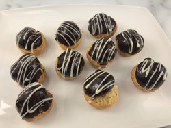 Mini Eclair Truffles with Raspberry