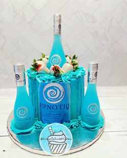 Hpnotiq Drip Cake - Happy Birthday Kayla