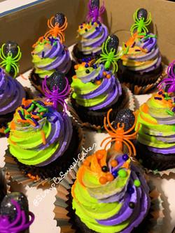 Spiked Halloween Cupcakes - Chocolate Kahlua Mudslide