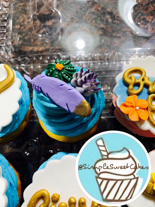 Boho Chic Cupcake Topper