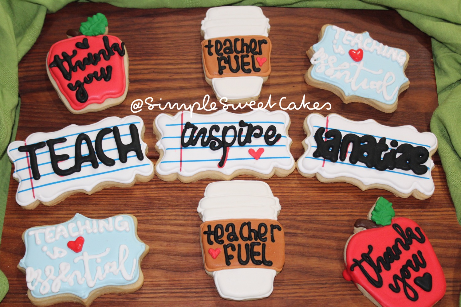 Teacher Thank You Cookies