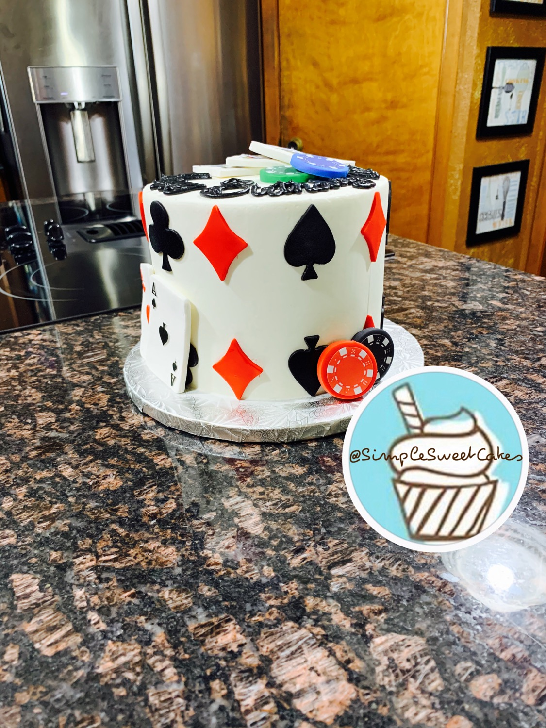 Poker Night Birthday Cake