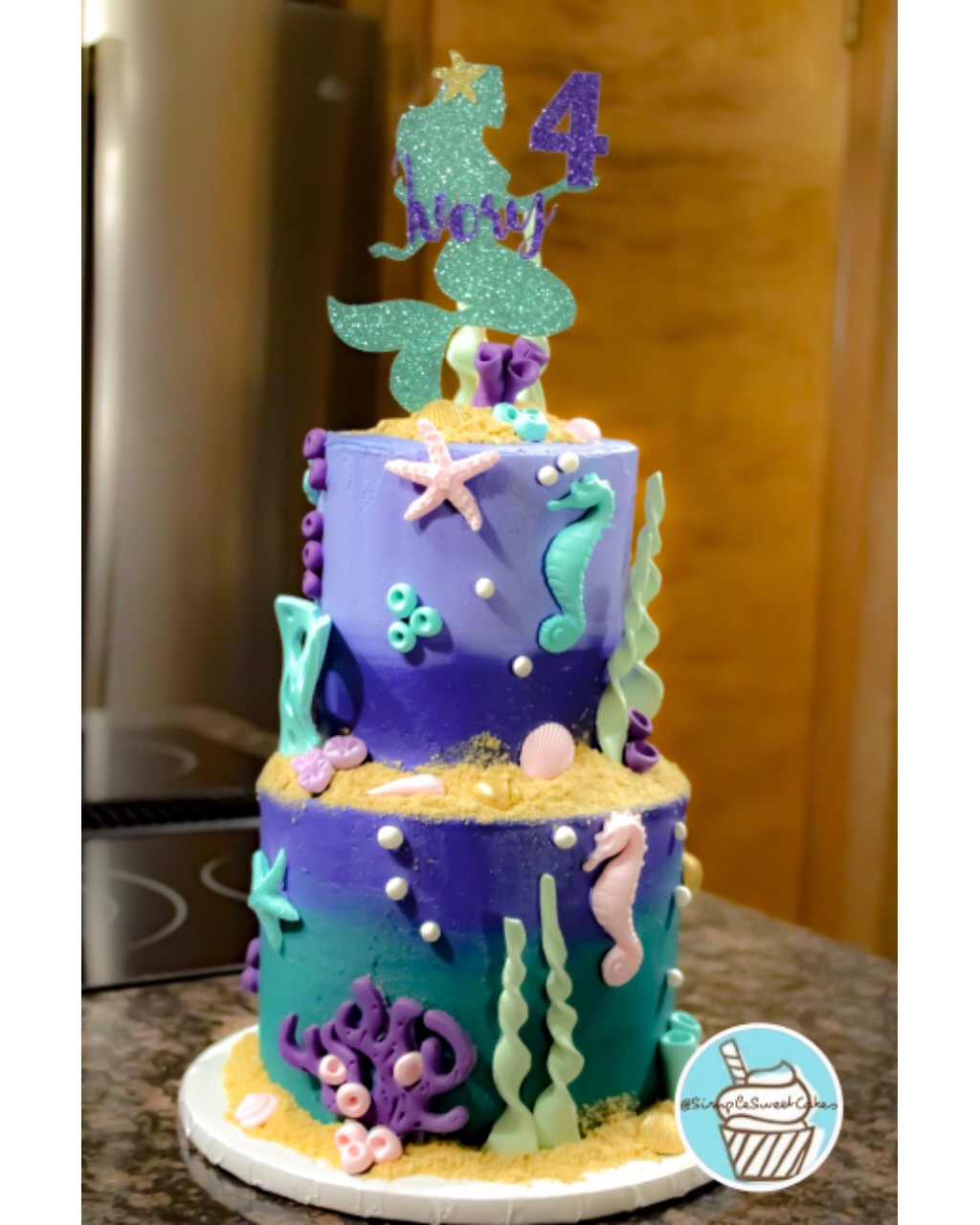 Mermazing 4th Birthday Cake