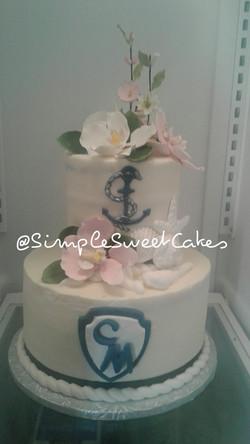 Vanilla Graduation Cake