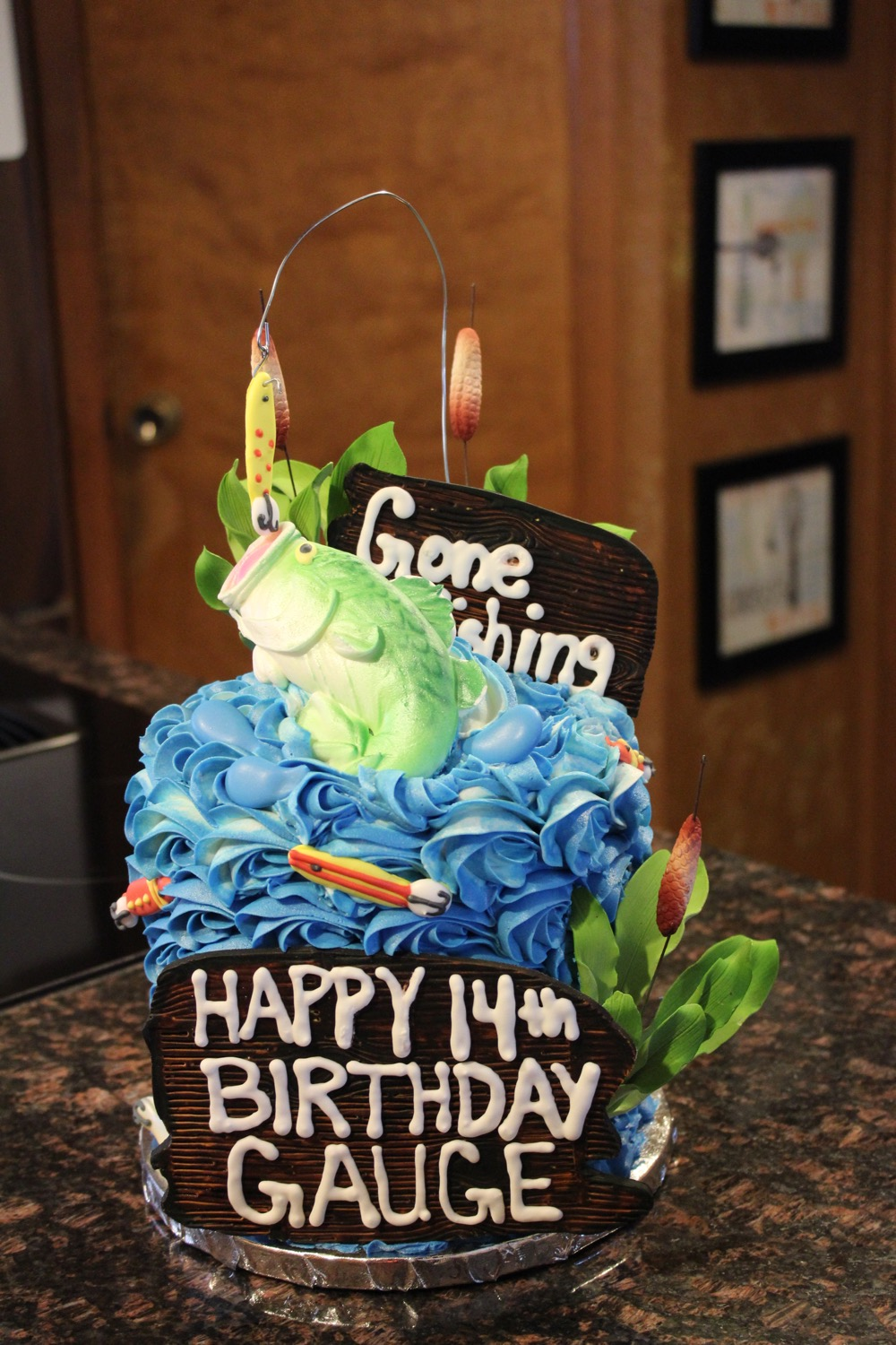 'Gone Fishing' Birthday Cake