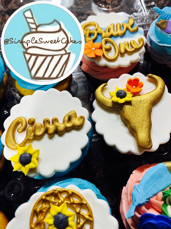 Boho Chic Cupcake Toppper
