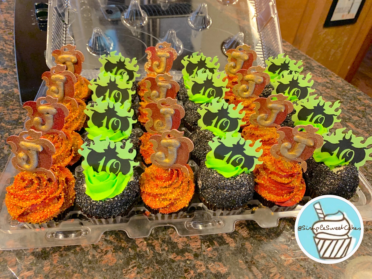 Descendants Theme Birthday Cupcakes