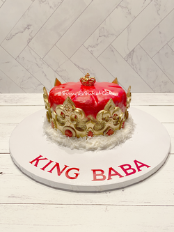 Crown cake - Happy Birthday King Baba!
