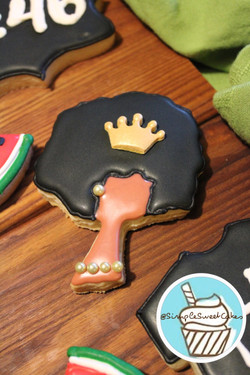 Decorated Sugar Cookies - Black Queen