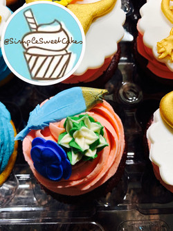 Boho Chic Cupcake Toppers