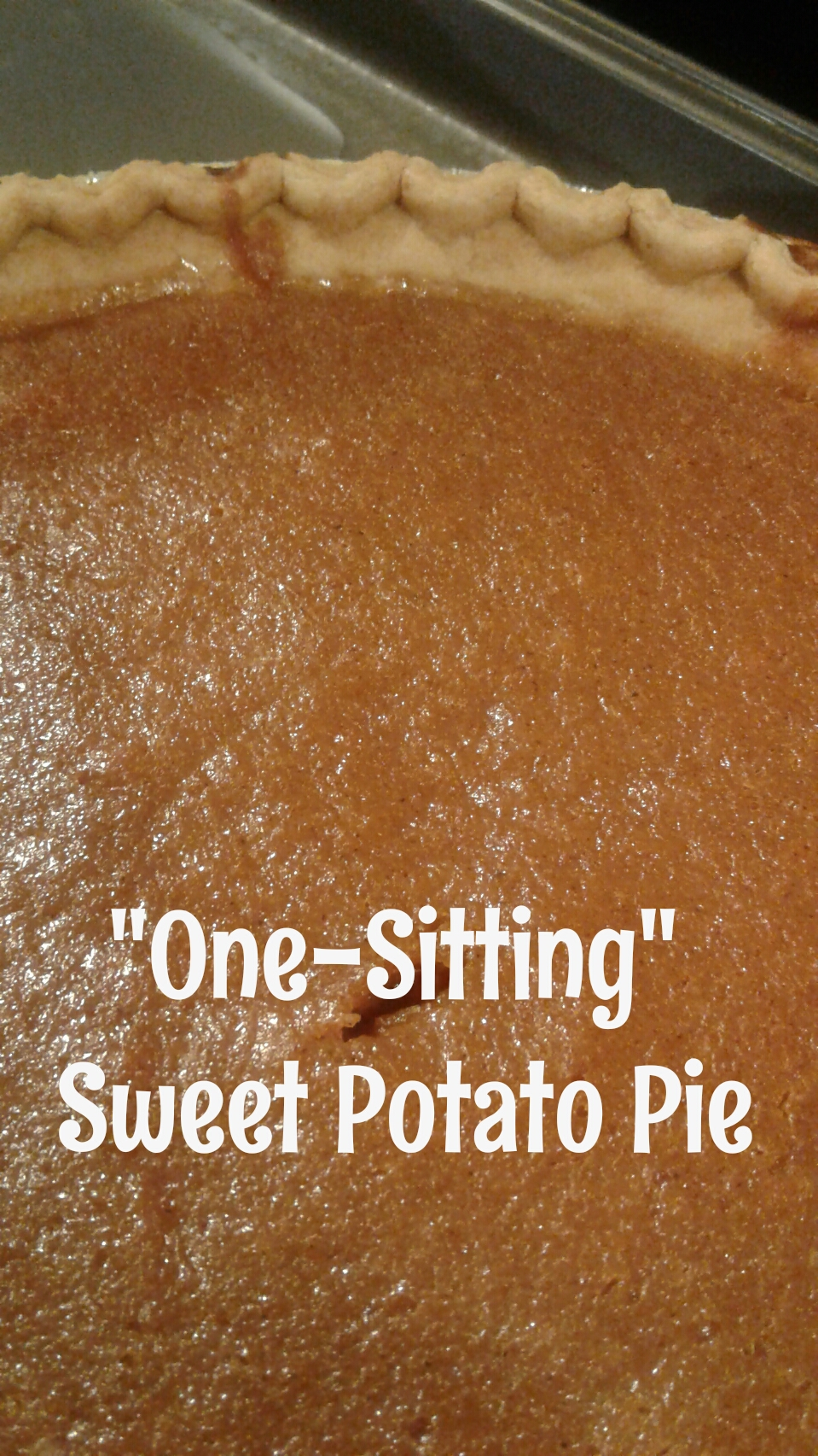 One Sitting Sweet Potato Pie