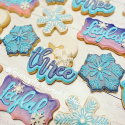 Frozen-themed decorated sugar cookies