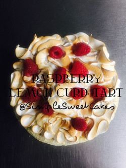 Raspberry Lemon Curd Tart