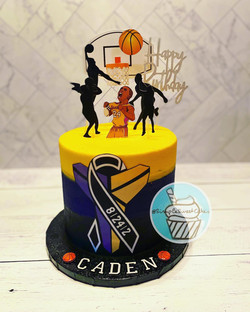 Lakers Legend Cake - Happy Birthday Cade