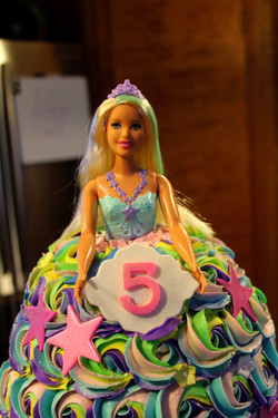 Personalized Barbie Doll Cakes