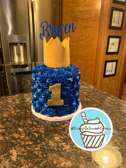 Baby Boy 1st Birthday Smash Cake