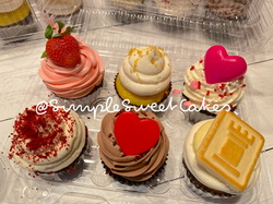 Assorted Valentines Cupcakes