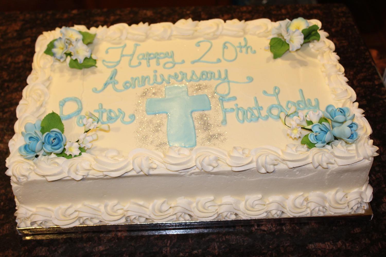 Pastorial Anniversary Cake