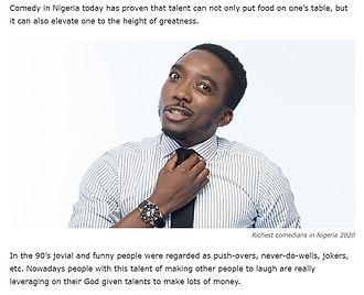 Top 10 richest comedians in Nigeria arti