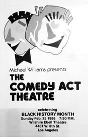 Comedy Act Theatre Flier