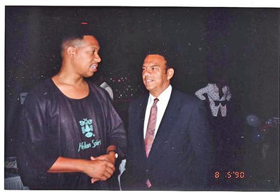 Michael Williams and (Mayor) Andrew Young