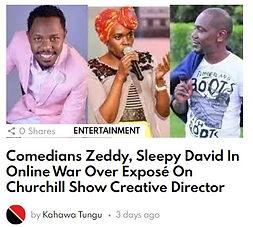 Comedian Zeddy