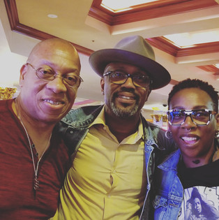 Michael with Tony Woods, Gina Yashere