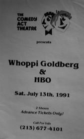 Flier Whoppi Goldberg and HBO Event 1991