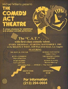Comedy Act Theatre Opening Flier