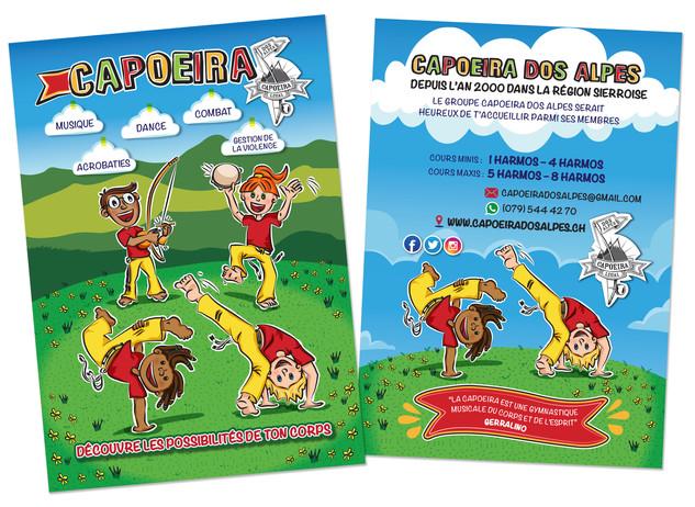 Folder Ilustrado | Capoeira dos Alpes