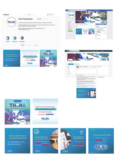 Think Treinamentos | Identidade Visual + social medias