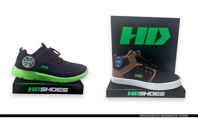 HD Shoes: Proposta de displays + Sinalizadores