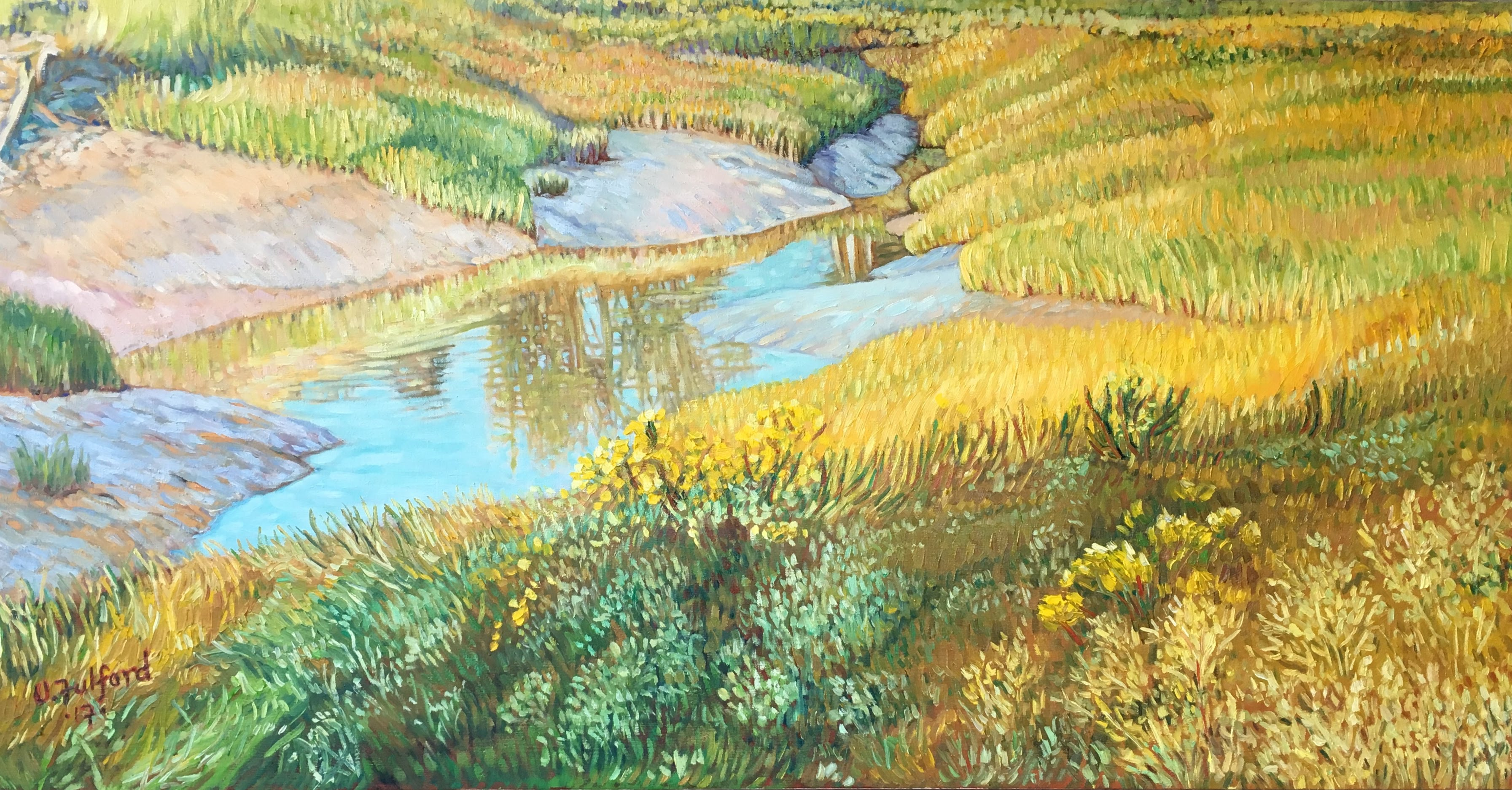 Salt Marsh Bay of Fundy 24_ X 48_ oils on canvas