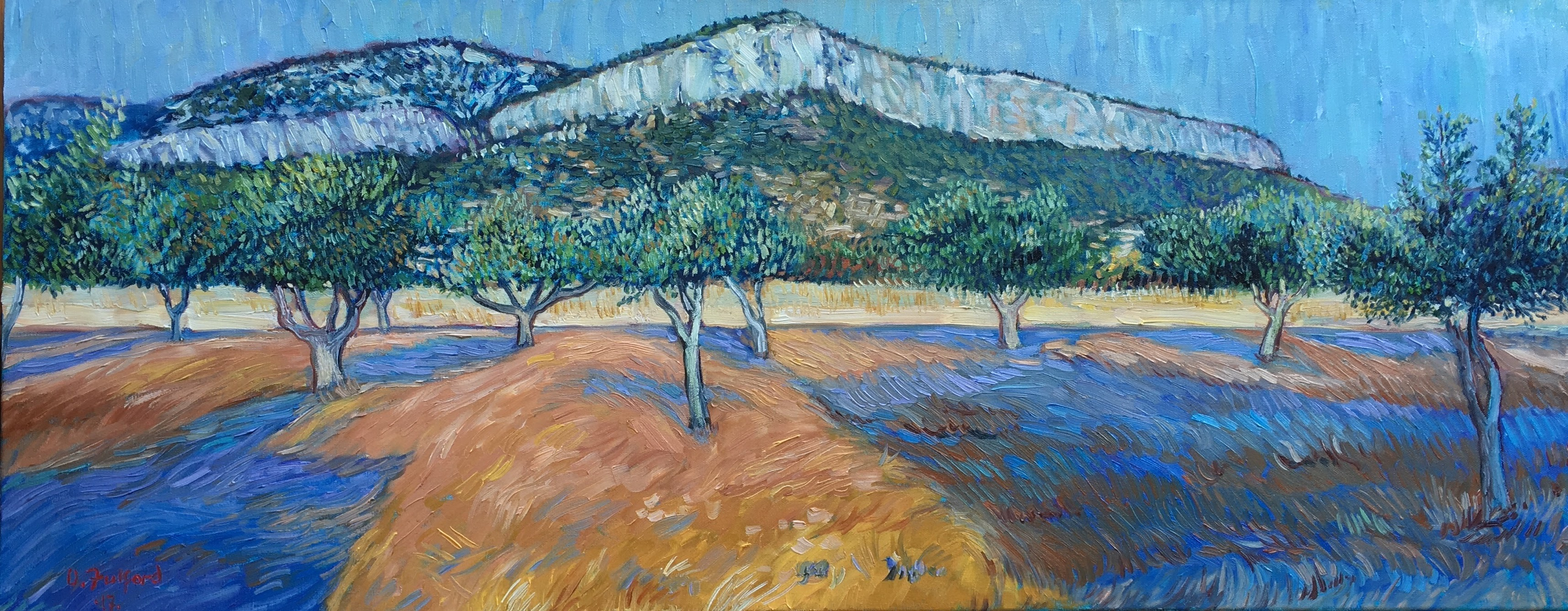 View from Mabrida Studios Koropi Greece 16_ X 40_ oils on canvasJPG