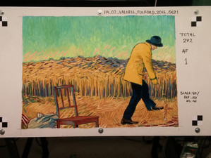 My first frame for Armand in Wheat Field