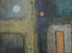 oils on canvas 30%22H x 40%22W Moon #2