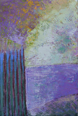 Window East oils on canvas  24%22 x 36%2