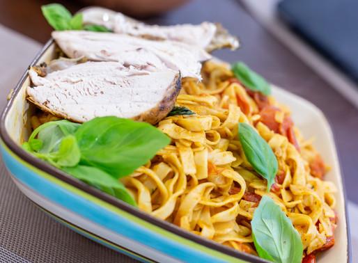 Mediterranean Roast Chicken Pasta.
