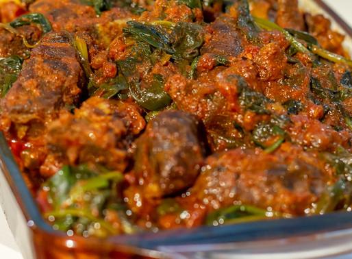 Nigerian Beef Vegetable Stew.
