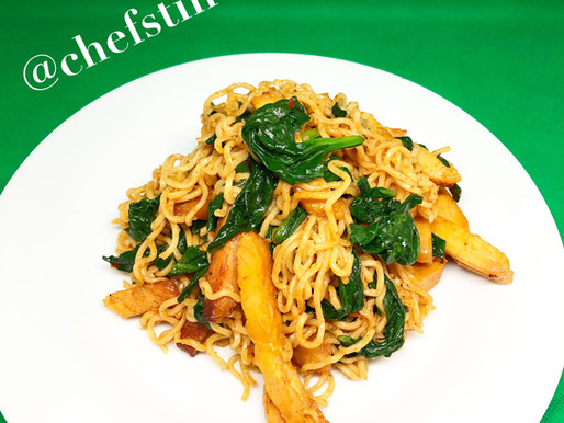 Chicken and Spinach Noodles.