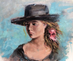 Girl in a hat (2)
