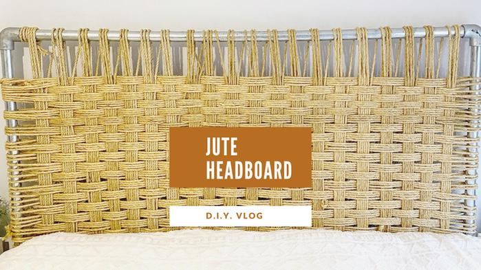 DIY Jute Headboard