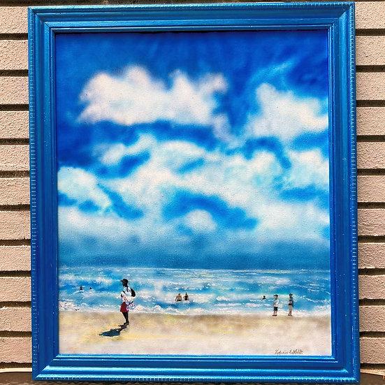 "Grand Lucayan, Bahamas Airbrush 25-1/2""x29-1/2"" Acrylic Painting"