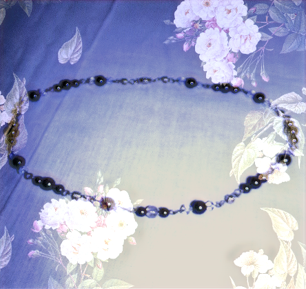 "Black Hematite Gemstones & Moonstone Gemstones 20"" Necklace"
