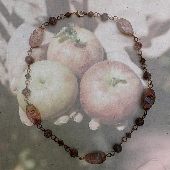 """Red Jasper Gemstones 17"""" Necklace"""
