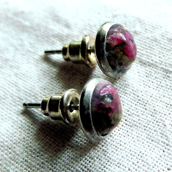 Select Assorted 6 mm Cabochon Gemstone Post Earrings