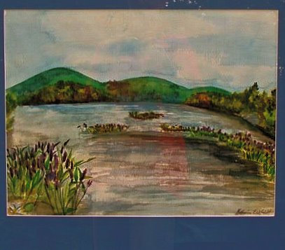 Great Brook, Kezar Lake Watercolor Painting