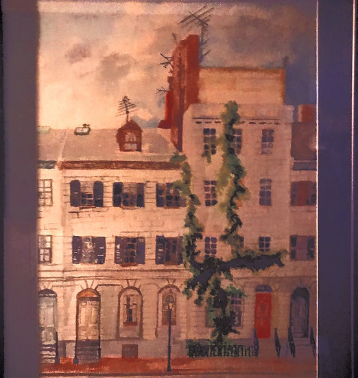 Beacon Street Watercolor Painting