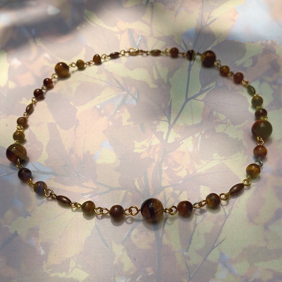 "Tiger Eye Gemstones 18"" Necklace"